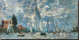Regatta in Argenteuil Leinwand von Claude Monet