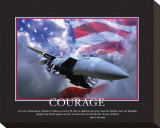 Courage Stretched Canvas Print