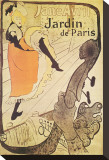 Jane Avril in Jardin de Paris Stretched Canvas Print by Henri de Toulouse-Lautrec