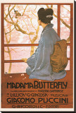 Puccini, Madama Butterfly Stretched Canvas Print by Leopoldo Metlicovitz