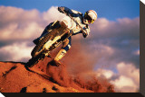 Motocross II Stretched Canvas Print