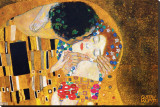 The Kiss, c.1907 (detail) Stretched Canvas Print by Gustav Klimt