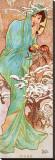 Invierno Reproducción en lienzo de la lámina por Alphonse Mucha