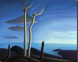 Lake Superior Stretched Canvas Print by Lawren S. Harris