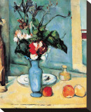 Blue Vase Stretched Canvas Print by Paul Cézanne