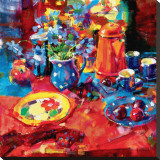 Tea Party Reproduction sur toile tendue par Peter Graham