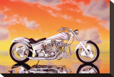 Custom Motorcycle Stretched Canvas Print