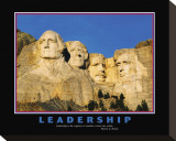Leadership, Mt.Rushmore Stretched Canvas Print