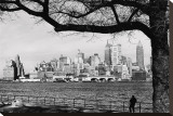 New York Skyline Stretched Canvas Print