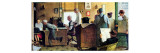 Norman Rockwell Visits a Country Editor Giclee Print by Norman Rockwell