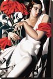 Portrait of Ira Stretched Canvas Print by Tamara de Lempicka