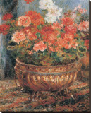 Bouquet of Flowers Stretched Canvas Print by Pierre-Auguste Renoir