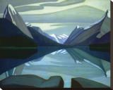 Maligne Lake, Jasper Park Stretched Canvas Print by Lawren S. Harris