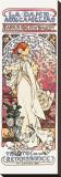 La Dame aux Camelias Stretched Canvas Print by Alphonse Mucha
