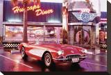 Corvette 1958 Reproduction sur toile tendue
