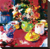 Afternoon Tea Stretched Canvas Print by Peter Graham