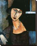 Jeanne Hebuterne Opspændt lærredstryk af Amedeo Modigliani