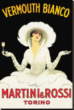 Martini and Rossi Stretched Canvas Print by Marcello Dudovich