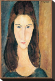 Portrait of Jeanne Hebuterne Stretched Canvas Print by Amedeo Modigliani