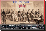 Civil War Stretched Canvas Print