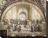 School of Athens Trykk på strukket lerret av Raphael,
