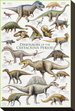 Dinosaurs, Cretaceous Period Stretched Canvas Print