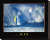 Risk Stretched Canvas Print