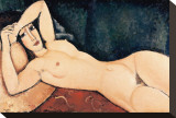 Reclining Nude Stretched Canvas Print by Amedeo Modigliani