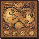 Cartographica III Kunstdruk op gespannen doek