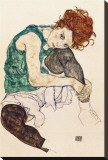 The Artist's Wife Stretched Canvas Print by Egon Schiele