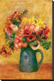 Pitcher of Flowers Stretched Canvas Print by Pierre-Auguste Renoir