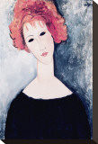 Redhead Stretched Canvas Print by Amedeo Modigliani