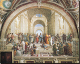&#201;cole d&#39;Ath&#232;nes Reproduction transf&#233;r&#233;e sur toile par Raphael 