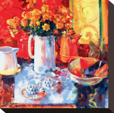Tea For Two Stretched Canvas Print by Peter Graham