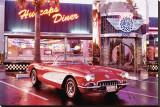 Corvette 1958 Reproduction transférée sur toile