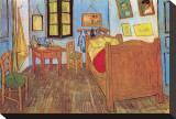 Soverom i Arles, ca. 1887 Trykk på strukket lerret av Vincent van Gogh
