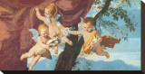 La Sainte Famille (detail) Stretched Canvas Print by Nicolas Poussin