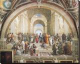 École d'Athènes Reproduction transférée sur toile par  Raphael