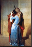 The Kiss Stretched Canvas Print by Francesco Hayez
