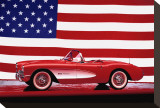 Corvette 1957 Stretched Canvas Print