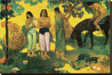 Rupe Rupe (Fruit Gathering in Tahiti) Stretched Canvas Print by Paul Gauguin