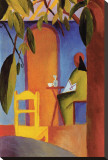 Turkish Cafe II Stretched Canvas Print by Auguste Macke