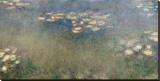 Les nymphéas Reproduction transférée sur toile par Claude Monet
