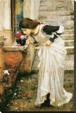 Le sanctuaire Reproduction transférée sur toile par John William Waterhouse