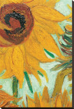 Twelve Sunflowers (detail) Stretched Canvas Print by Vincent van Gogh