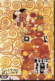L'étreinte Reproduction transférée sur toile par Gustav Klimt
