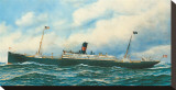 Danish Steamship Stretched Canvas Print by Antonio Jacobsen