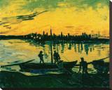 Unloading at Arles, c.1888 Leinwand von Vincent van Gogh