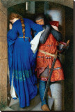 Meeting on Turret Stairs Stretched Canvas Print by Frederick William Burton