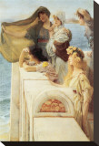 At Aphrodite's Cradle Stretched Canvas Print by Sir Lawrence Alma-Tadema